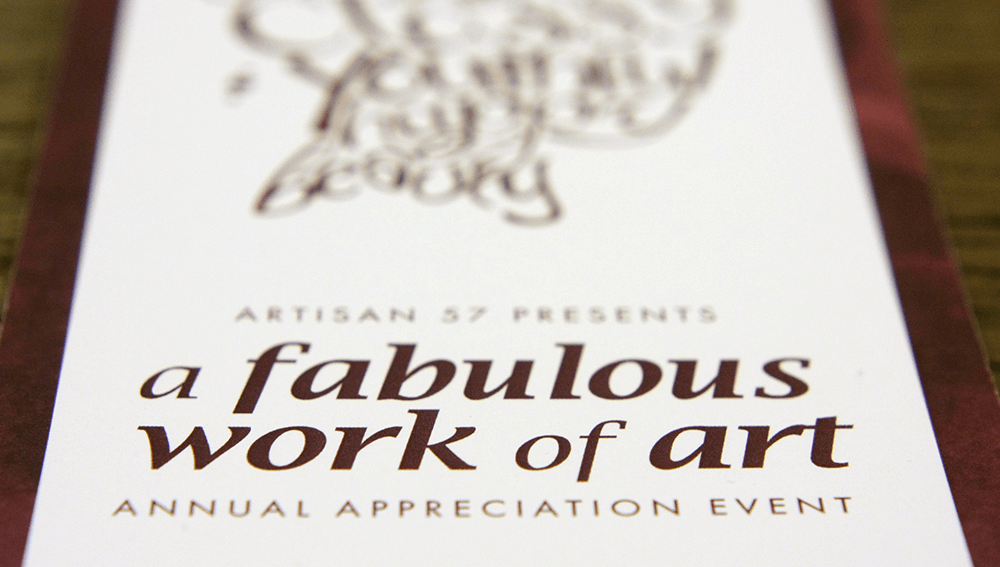 Invitation to Artisan57's Annual Appreciation Event