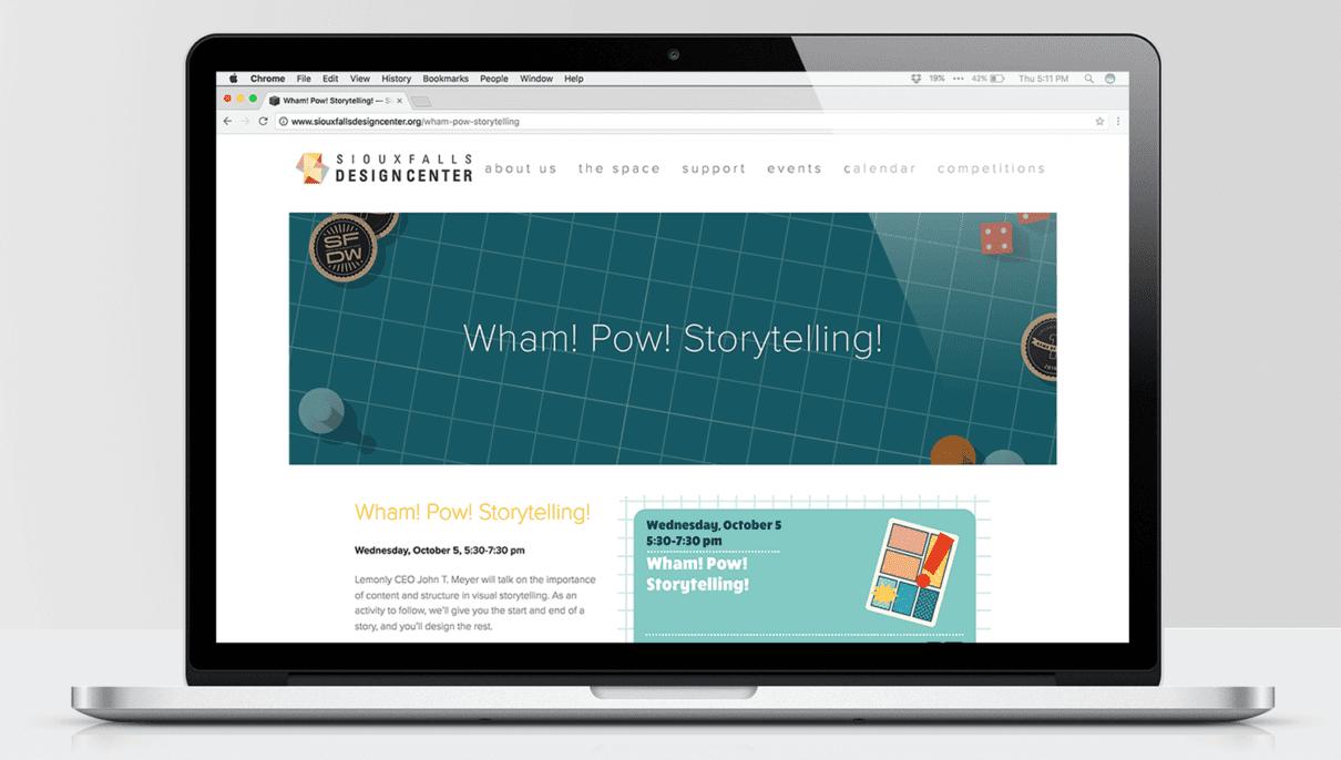 Screenshot of Sioux Falls Design Week website