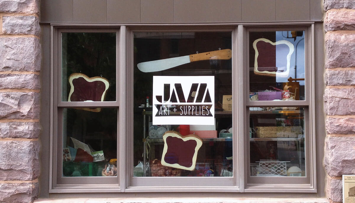 Finished JAM window display