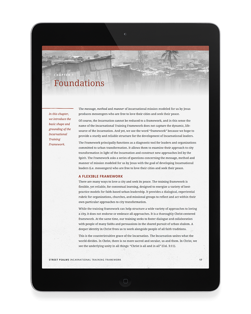Chapter page from the Incarnational Training Framework ebook