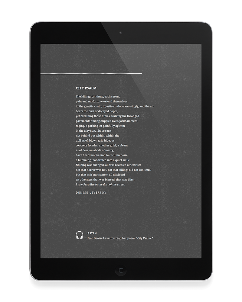 Poem page from the Incarnational Training Framework ebook
