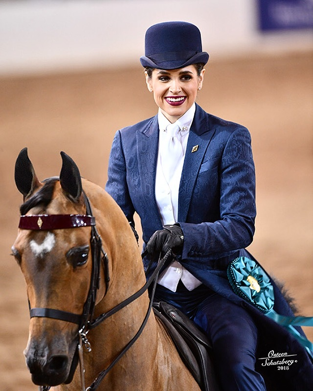 Katherine and Shenanigan compete in an equestrian championship