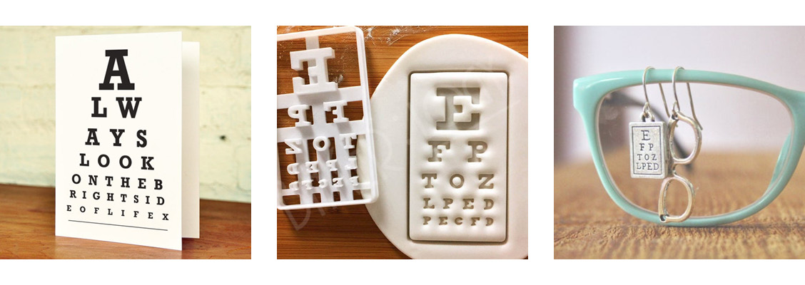 The eye chart is all over Etsy