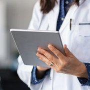Doctor using tablet for telemedicine