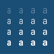 Acumin variable font letter a, just a few instances
