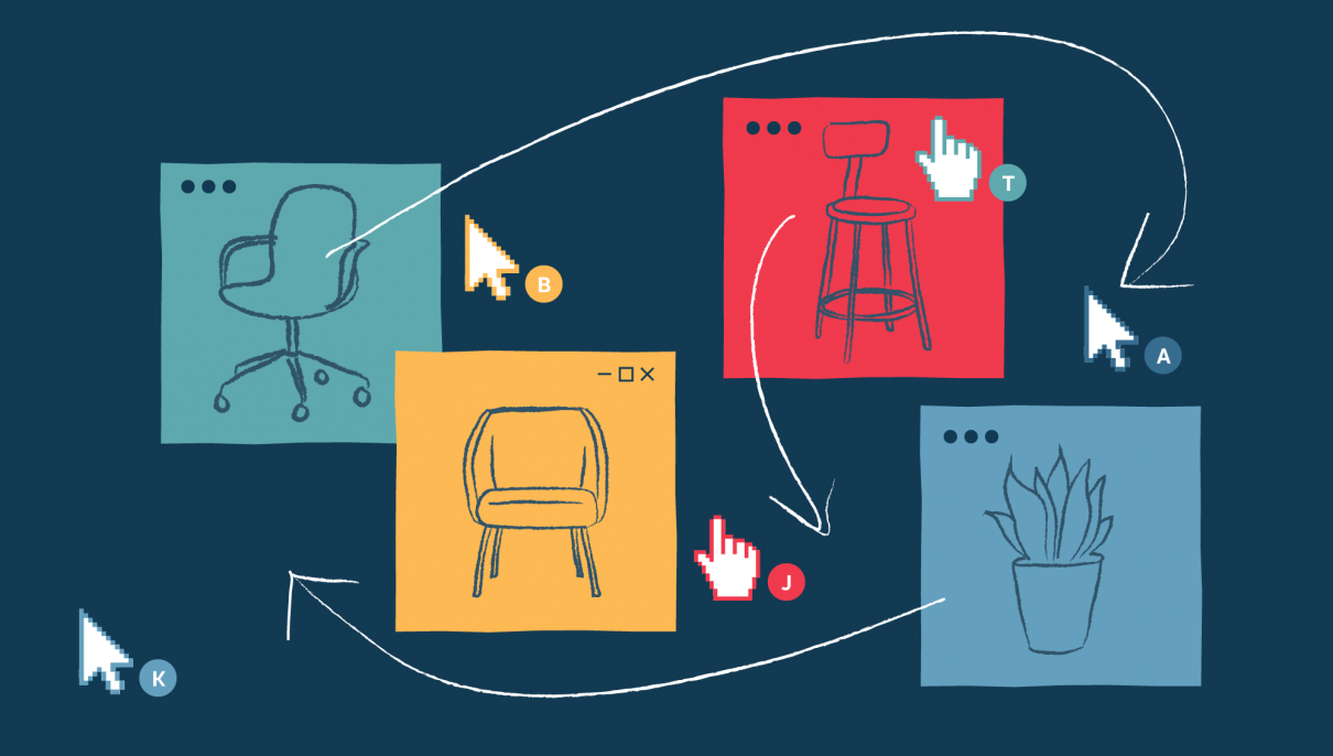 Using remote collaboration tools to arrange physical space